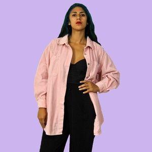 90s Pink Corduroy Shirt L-XXXL